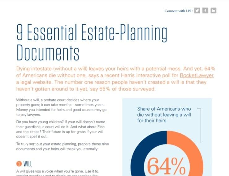 9 Essential Estate-Planning Documents