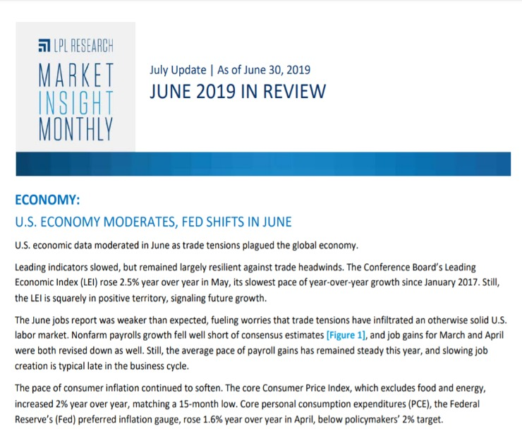 Market Insight Monthly | June 2019