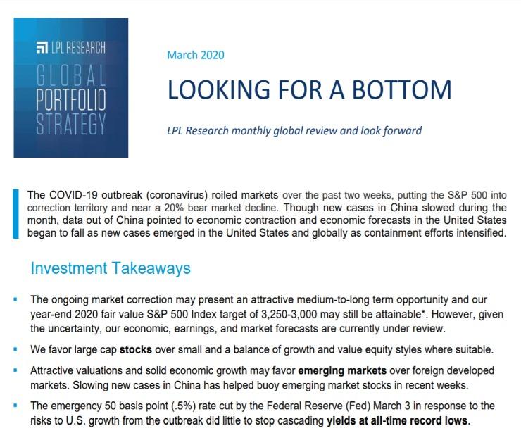 Global Portfolio Strategy   March 10, 2020