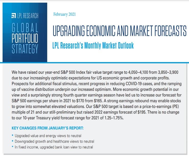 Global Portfolio Strategy   February 9, 2021