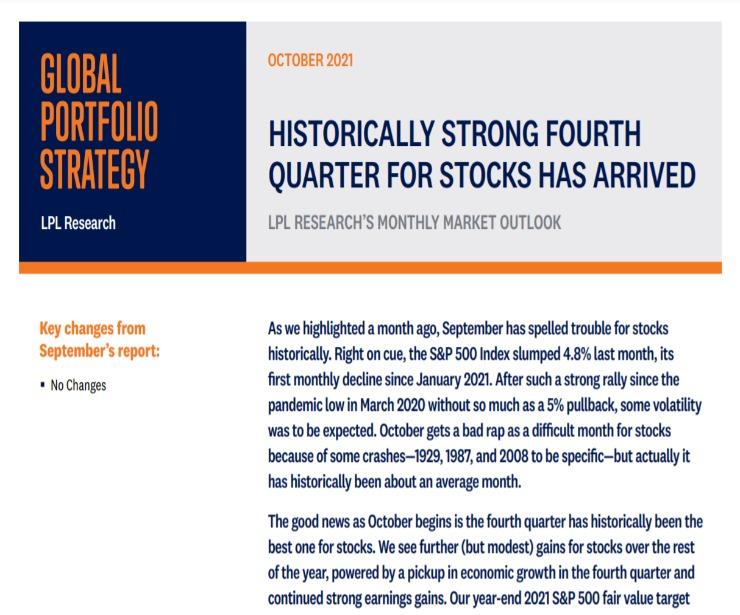 Global Portfolio Strategy   October 11, 2021